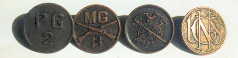 World War I collar disks