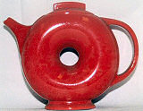 Red teapot by Hall